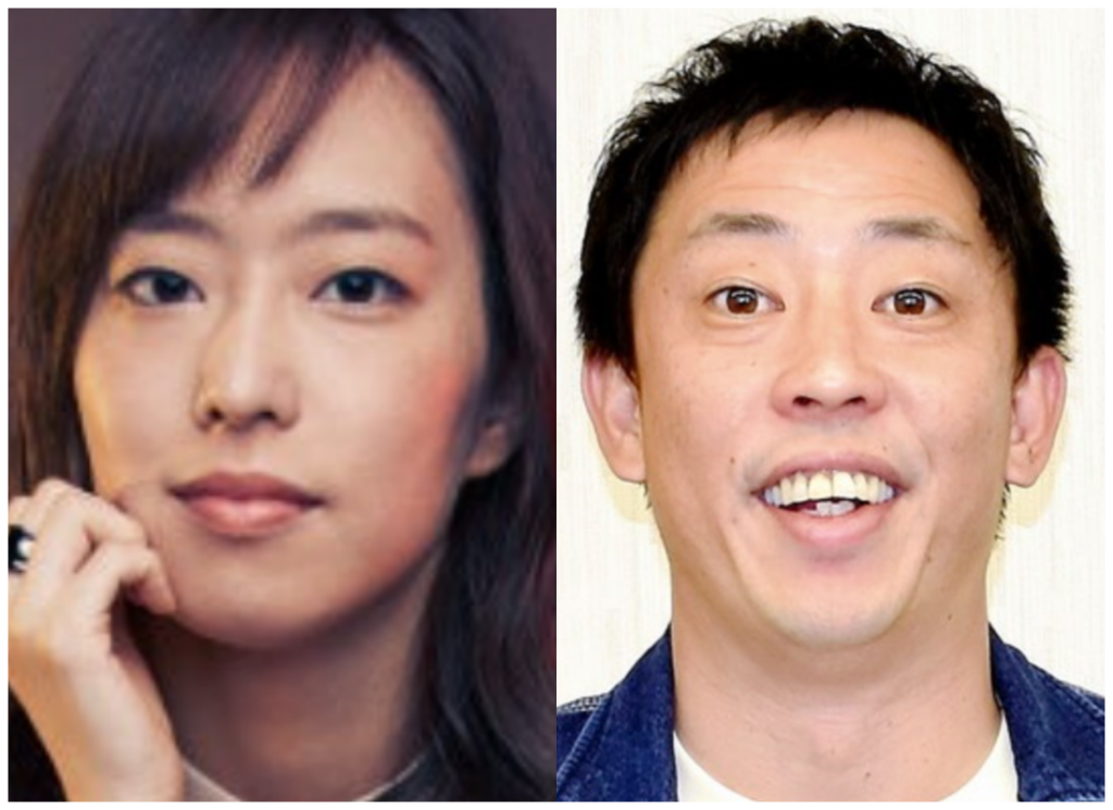 石川佳純選手と『さらば青春の光』の森田さんの画像