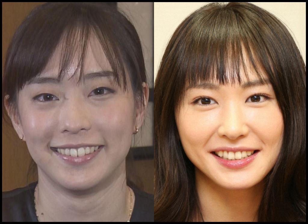 石川佳純選手と新垣結衣さんの画像