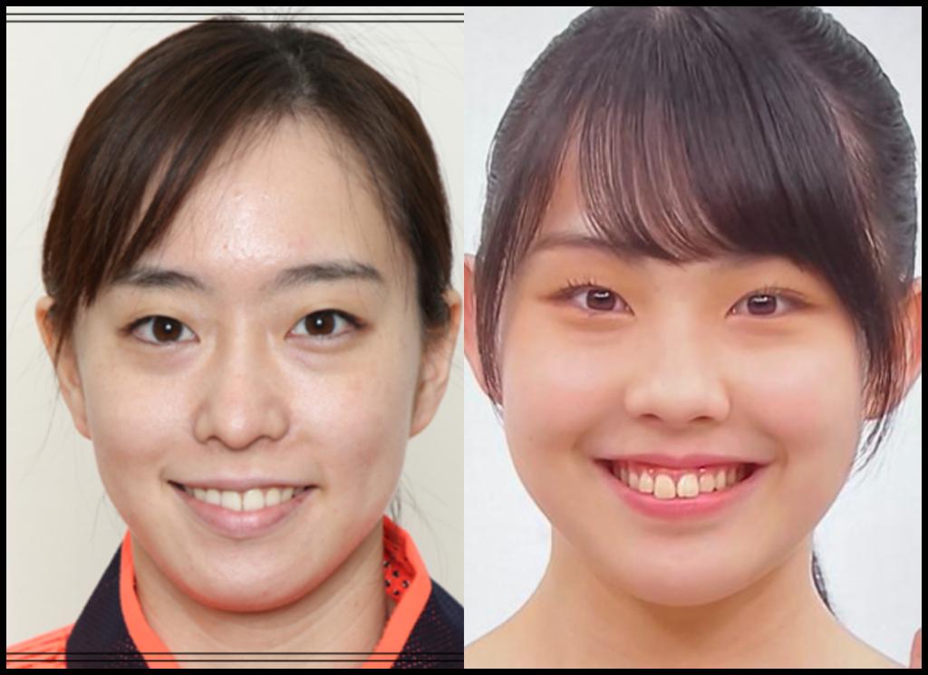 石川佳純選手と西﨑美空さんの画像