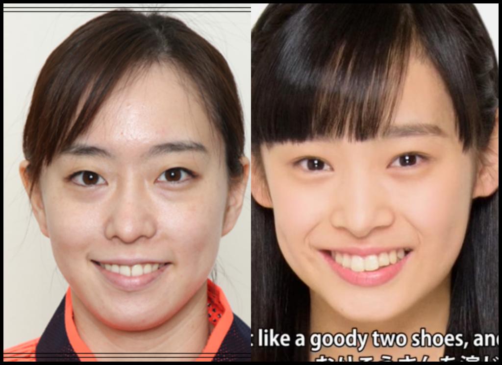 石川佳純選手と石栗奏美さんの画像