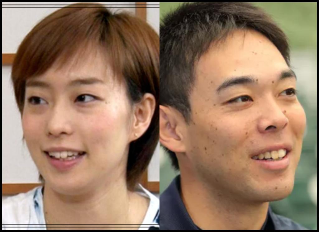 石川佳純選手と秋山翔吾さんの画像