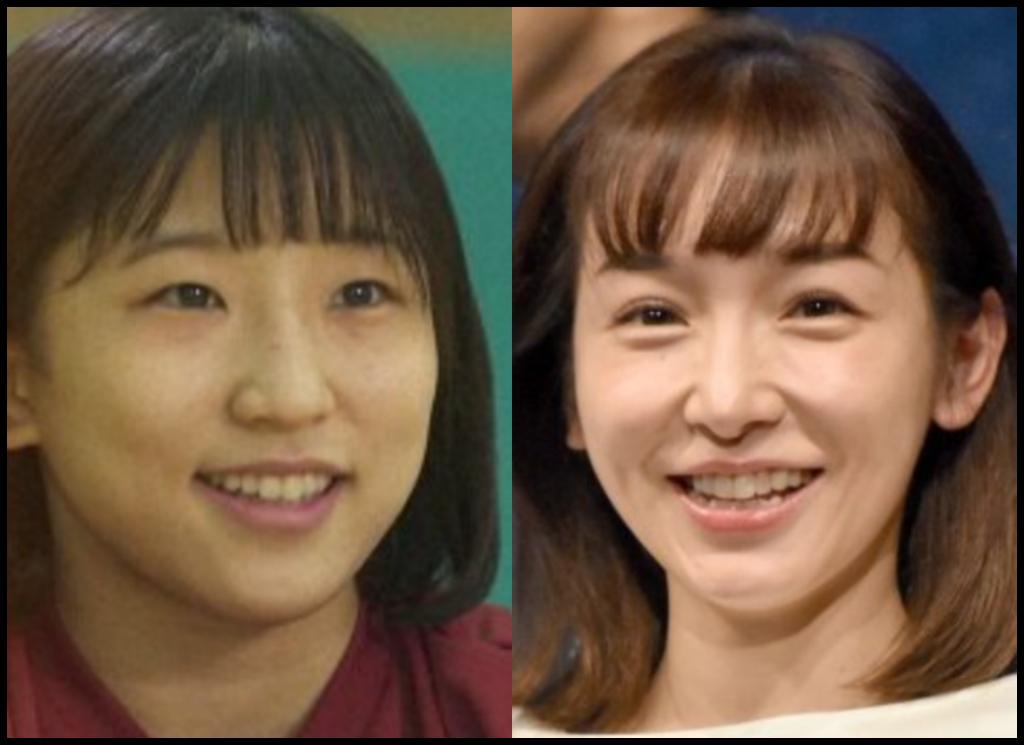 須崎優衣選手と加護亜依さんの画像