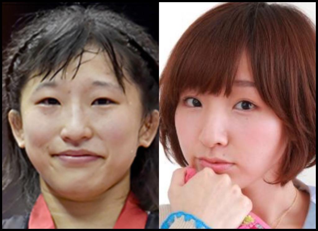 須崎優衣選手と洲崎綾さんの画像