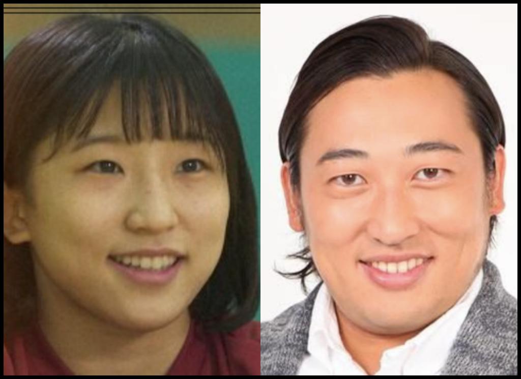 須崎優衣選手と秋山竜次さんの画像