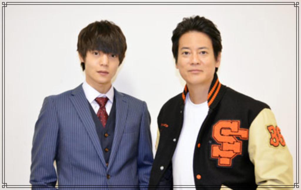 窪田正孝さんと唐沢寿明さんの画像