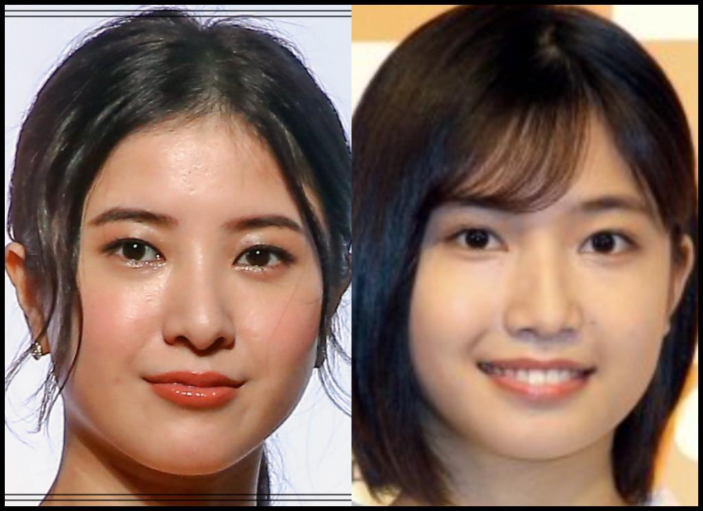 吉高由里子さんと小野莉奈さんの画像