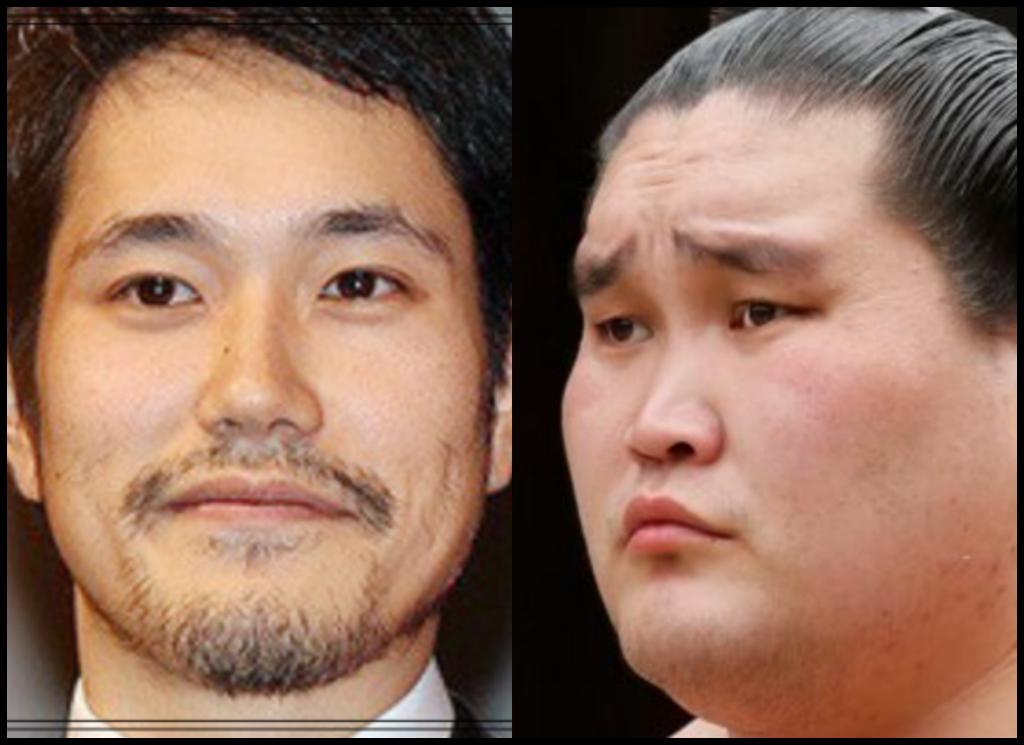 松山ケンイチさんと照ノ富士さんの画像